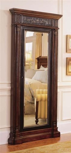 Hooker Furniture - Seven Seas Floor Mirror w Jewelry Armoire Storage