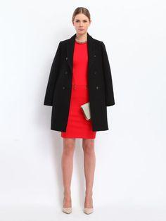 Elegancka czerwona #sukienka Top Secret