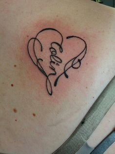 Infinity heart tattoo with my son's name