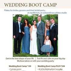 Wedding Boot Camp for getting in the best shape of your life while saving money for your wedding!