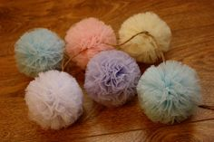 tulle garland by POMandPOM on Etsy