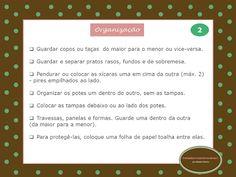 Checklist de organização da cozinha - 2