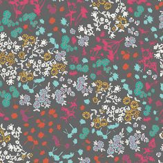 PREORDER 1  Yard VOILE Floret Stains in Mulberry - Indelible by Katarina Roccella for Art Gallery Fabric