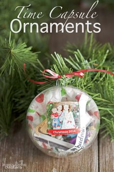 See this stunning Time Capsule Christmas #Ornament that @bubblynature created with our Shutterfly stickers. Perfect DIY for the kids.