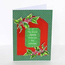 Papiernictvo - Vianočná pohľadnica - 8639734_