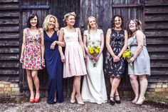 Bridesmaids not matching- looks great
