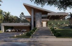 Ideas home desng exterior architecture Modern Exterior House Designs, Modern House Facades, Modern Villa Design, Dream House Exterior, Modern Architecture House, Exterior Design, Architecture Design, Contemporary Design, Luxury Homes Dream Houses