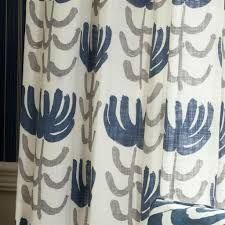 Pierrette Fabric from Designers Guild Alberesque COllection. A linen fabric printed with stylised flowers and stems in blue and grey on a white ground. Curtain Fabric, Linen Fabric, Blue Grey, Blue And White, White Curtains, Designers Guild, My Favorite Color, Printing On Fabric, Colours
