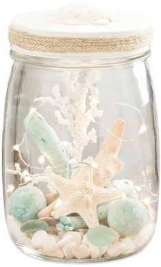San Miguel LED Beachcrest Lightscape table decoration - San Miguel LED Beachcrest Lightscape table decoration, I - Beach Room Decor, Beach House Decor, Diy Home Decor, Beach Houses, Bedroom Beach, Mermaid Room Decor, Beach Theme Garden, Diy Decoration, Seashell Crafts