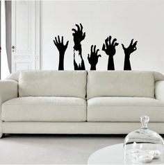 Zombie Hands Decal Sticker Vinyl Wall Art Kid Boy Girl Teenc