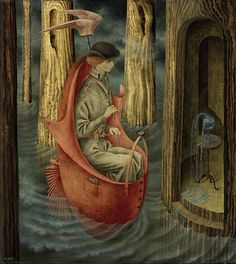 Remedios Varo, 1908- 1963. Exploration of the Source of the Orinoco River, painted in 1959.