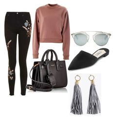 """Spring"" by catmarguerite on Polyvore featuring Topshop, Acne Studios, Yves Saint Laurent, Prada, Christian Dior, StreetStyle, stylist, fashionblog and styleblog"