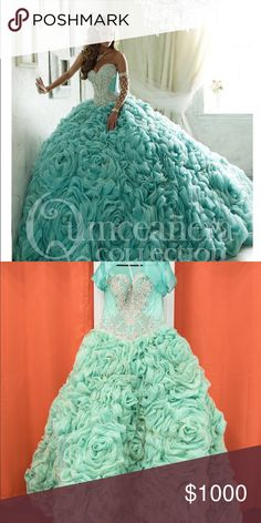 Quinceañera/Sweet 16 Dress Brand new. Only worn once for less than 5hours. Bell to puff up dress which is $200 I'm including at no additional cost. Dresses