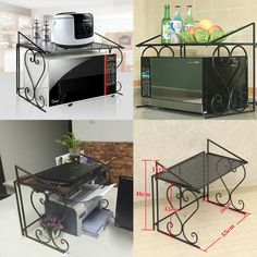 Metal Kitchen Storage & Organization Accessories Microwave Oven Rack/shelf And for sale online
