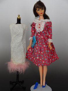 Vintage TNT Barbie with Japanese Exclusive 2 Dresses #2626 Bag Shoes #2630 #Dolls