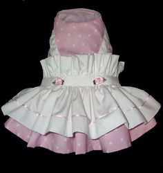 Pink Dot Pinafore Dog Dress Easter small by ChloeBellaDesigns