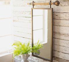 Mirror With Shelf, Round Wall Mirror, Mirror Art, Floor Mirror, Wall Mirrors, Copper Mirror, Wall Mirror Ideas, Vanity Mirrors, Glass Floor