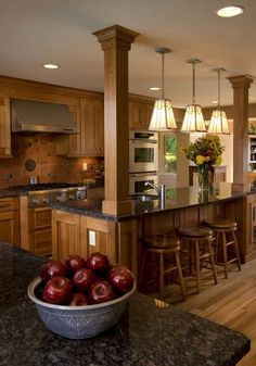 Rustic Kitchen Design, Wooden Kitchen, Interior Design Kitchen, New Kitchen, Kitchen Dining, Kitchen Designs, Kitchen Ideas, Country Kitchen, Ranch Kitchen
