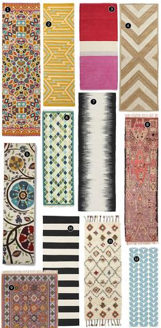 Image:West Elm Hallways and long, narrow spaces can feel unfinished, undecorated, and forgotten. It's easy to perk these utilitarian spaces up though, just by adding a fun, patterned runner! Below are a dozen of the best ones out there, in a range of styles, colors, and prices, so you're sure to find a winner among Continue Reading »