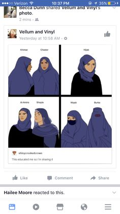 Educate yourself...especially because I did not know that what I thought was a burka was actually a niqab