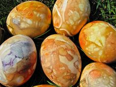 Naturally Dyed Marbled Eggs
