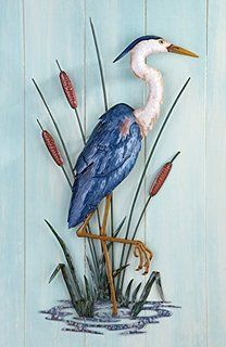Collections Etc Metal Great Heron Wall Art