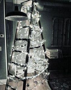 Ladder Christmas Trees 10 Photos