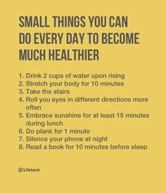 Without health, it's hard to achieve anything. Let's start from TODAY