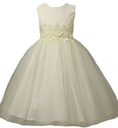 Girls KID Collection Cinderella Tulle Dress 2 Ivory (Kid 1098) Kid Collection,http://www.amazon.com/dp/B000PK3R6O/ref=cm_sw_r_pi_dp_tp14qb16NR9P3TZF