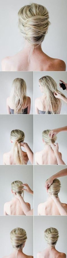 Best 5 Minute Hairstyles - Messy French Twist Tutorial - Quick And Easy Hairstyles and Haircuts For Long Hair, That Are Super Simple and Great For Busy Mornings Or For School. Braids, Undo's, Ponytail Looks And Hair Styles For Short Hair, Medium Length Ha 5 Minute Hairstyles, Up Hairstyles, Bridal Hairstyles, Amazing Hairstyles, Easy Wedding Hairstyles, Classy Updo Hairstyles, Bridesmaids Hairstyles, Stylish Hairstyles, Goddess Hairstyles