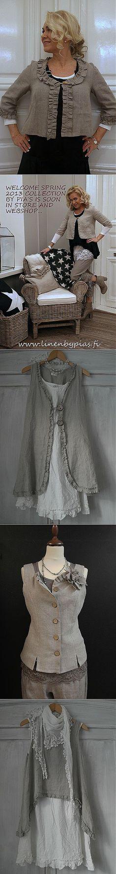 Льняная одежда  в  стиле бохо от Olen Pia Erlund.