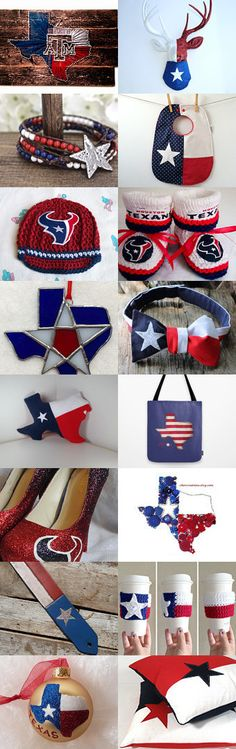 "Etsy Treasury by @mydeserlove  ""Texas Red, White, & Blue Forever"" #handmade #etsyfinds #texas"