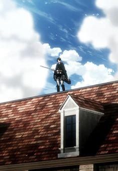 Just standing on this roof, polishing my blade...