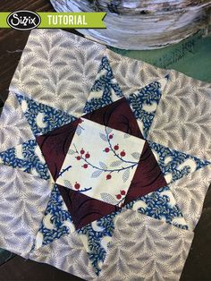 Sizzix Quilting | Fabric Friday (Watch and Win): Variable Star Block   http://blog.sizzix.com/sizzix-quilting-variable-star-block/  #Sizzix #Quilting