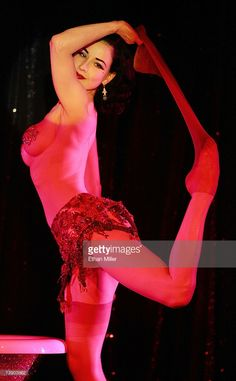 Burlesque artist Dita Von Teese performs as a guest at the MGM Grand's Crazy Horse Paris show April 16, 2007 in Las Vegas, Nevada.