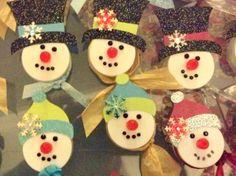 Snowmen Lighted Candles