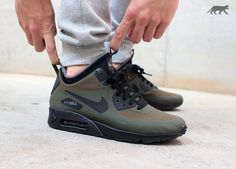 Nike Air Max 90 Mid Winter-Dark Loden-Black-Dark Grey-2
