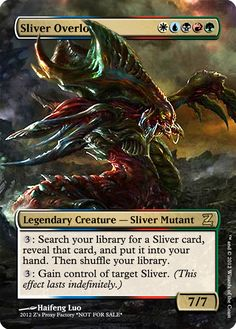 Sliver Overlord, zeerbe, proxy, digital render, Z's Proxy Factory, MTG, Magic the Gathering