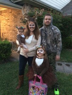 Deer Family and the Hunter