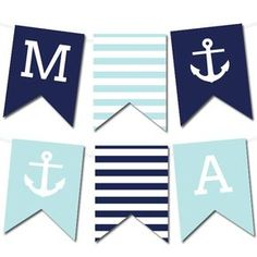 Free Printable Nautical Banner #wedding #printable #freeprintable