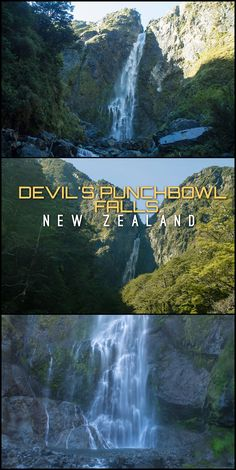 Devil's Punchbowl Falls is one of the most spectacular waterfalls in New Zealand. It's located in Arthur's Pass National Park, somewhere you'll pass through while driving between Christchurch and the West Coast.
