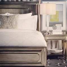 Our Palais Bed is a modern twist to a classic design. Maybe I should paint my bedroom furniture to this color!