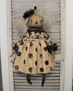 EPATTERN - Miss Gwendolyn primitive folk art halloween ghost doll epattern