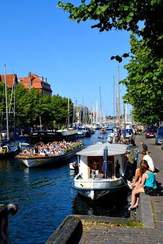 Experience canals in Copenhagen. Places To Travel, Places To Visit, Kingdom Of Denmark, Denmark Travel, Copenhagen Denmark, Copenhagen City, Scandinavian Countries, Destinations, Norway