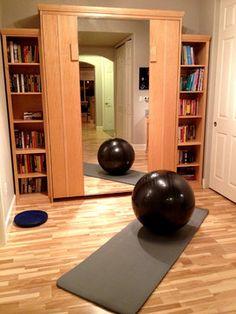 exercise room / office  dream home  pinterest  exercise