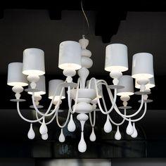 Fosani Lighting Replica 8 Arm White Eva Chandelier Light