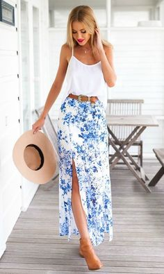 Take a look at the best maxi skirt in the photos below and get ideas for your own outfits! Gray & white stripes More Image source Image 1 of Honey Punch Festival Maxi Skirt With Button Front Image source In… Continue Reading → Summer Outfits, Casual Outfits, Cute Outfits, Summer Dresses, Look Fashion, Fashion Outfits, Men Fashion, Fashion Tips, Online Fashion Boutique