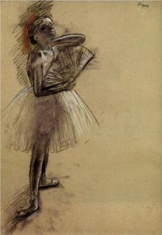 Dancer with a Fan - Edgar Degas.... I don't know why ... but I have a thing for Degas and his dancers.....