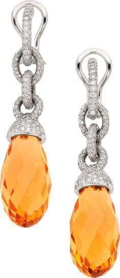 Trendy Diamond Rings : Beryl Diamond Platinum Earrings Tiffany & Co..