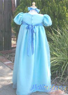 wendy costume from peter pan   Wendy Darling Blue Dress Child Costume Peter Pan child costume custom
